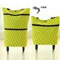 Supermercado bolsa de la compra de alimentos carrito de compras plegable del tirón manija creativa lavable Ecológico de gran capacidad portátil bolsa de viaje