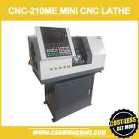CNC210 ME mini CNC Lathe/750W motor MACH3 Software Panel Contorl/Auto Electricl Tool Chang Mini DIY Lathe Machine
