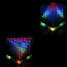 DIY 3D8 многоцветный мини светодиодный дисплей Отличная анимация / 3D 8 8x8x8 Электронные   Лучший!