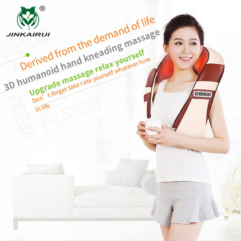 JinKaiRui 4D Pemanasan Inframerah 12 Bola Urut U Bentuk Shiatsu - Penjagaan kesihatan - Foto 2