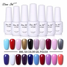 Beau Gel Hot Color Series 8ml Semi Permanent Nail Gel UV LED Gel Polish Long Lasting Soak Off Vernis Ongle Pro Nail Decorations