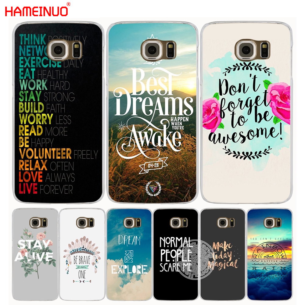 HAMEINUO inspirational Motivational quotes cell phone case cover for Samsung Galaxy S7 edge PLUS S8 S6 S5 S4 S3 MINI