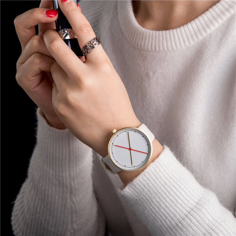 Hot sale men women fashion quartz watches minimalism design casual male student female wristwatch reddot design award watch simple minimalism casual men quartz wristwatch number dial genuine leather band cost effective natural wooden design male watch