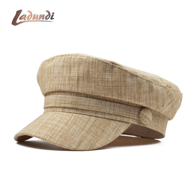LADUNDI Düz Renk Dantel Pamuk Altın Hattı Kadın Düz Bereliler Kap Bayanlar Zarif Baker Kız Şapka Ördek Gagası Sonbahar Klasik Kadın şapka