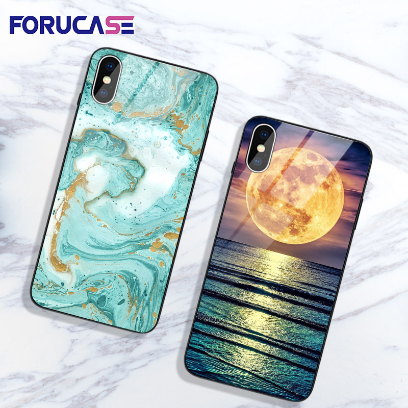 For Capa iPhone 7 XS MAX Case Ultra Thin Cover For iPhone 7 8 6 6S Plus Hard PC TPU Marble Print For iPhone 11 Pro MAX X S Phone image