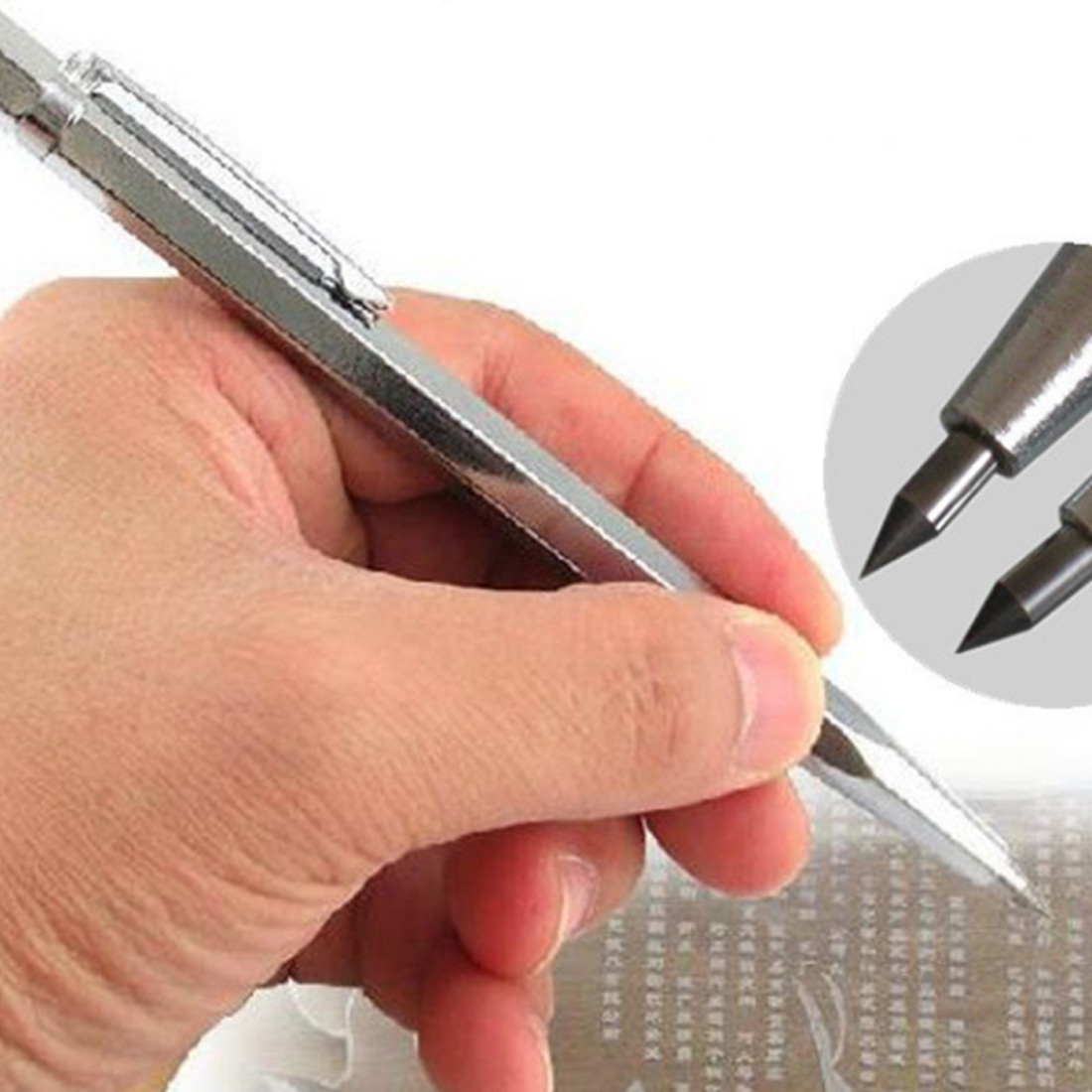 텅스텐 강철 팁 스크 라이버 마킹 에칭 펜 도자기 유리 마킹 도구 실리콘 석영 쉘 금속 도구