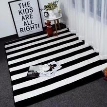 Большой размер, коврики, черные, белые, полосатые коврики для гостиной, коврики расцветки Зебра и ковры, детский коврик для кабинета, коврик для кофейного столика