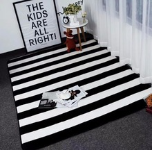 Big size mat Black White Stripes Carpets For Living Room ZEBRA Rugs And Carpets Children Study Room Area Rug Coffee Table Mat