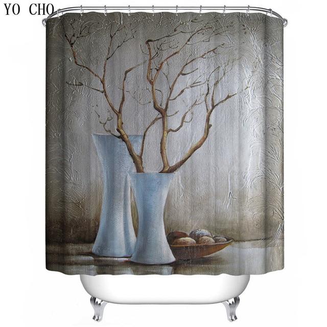 YO CHO high quality waterproof 3d shower curtains creative luxury ...