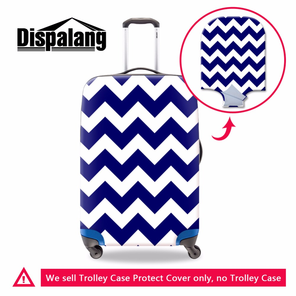 Clear Luggage Cover Luggage Protector Chevron Suitcase Covers Suitcase Rain Cover For Girls Waterproof Cover For 18-30 Inch