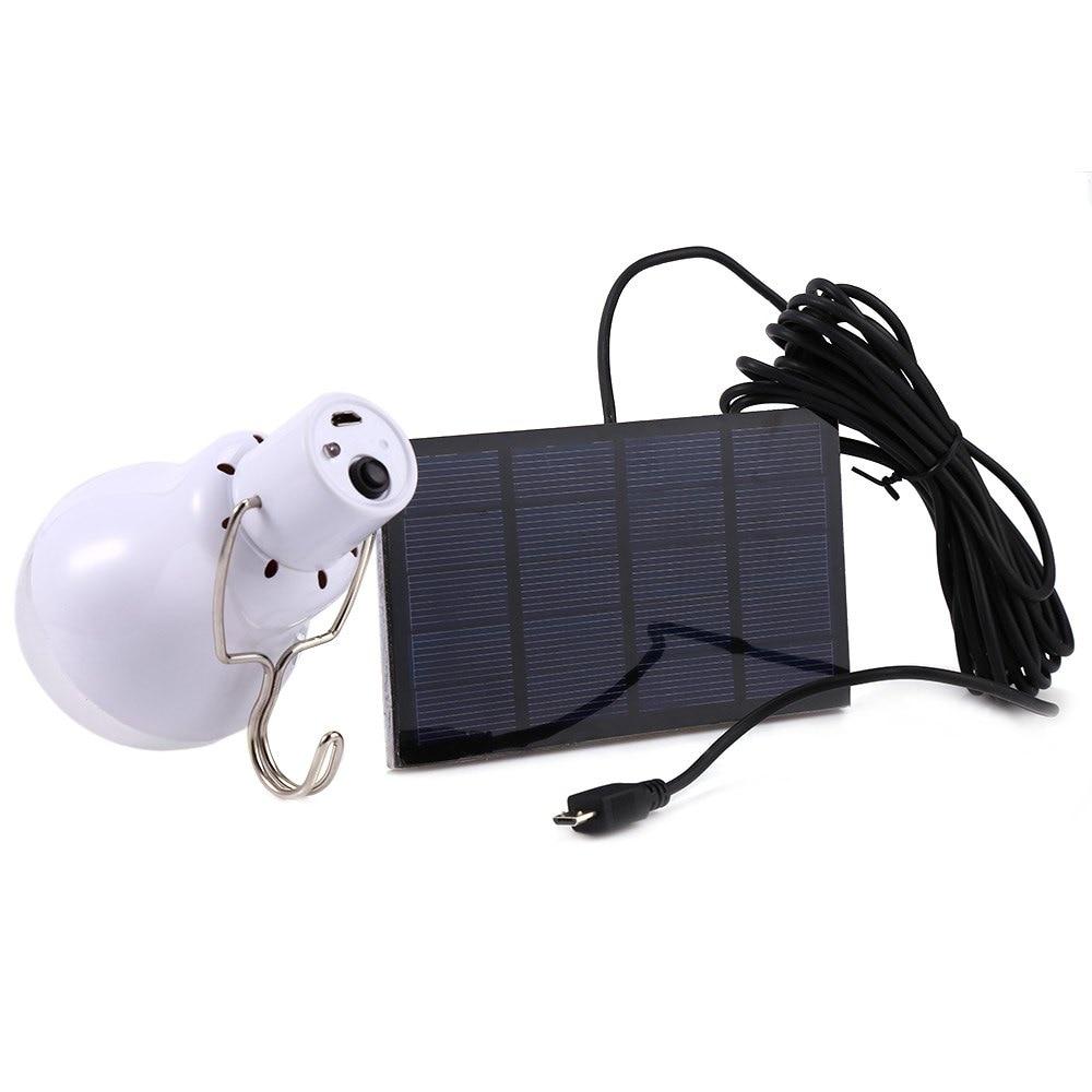 Hot 15w Solar Powered Portable Led Bulb Lamp Solenergi Camping lampa - Utomhusbelysning - Foto 2