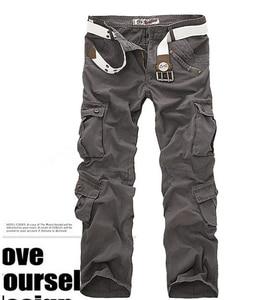 Image 5 - Erkek Çok Cep Rahat Kamuflaj Pantolon Erkekler Askeri Kargo Pantolon Yıkanmış Pantolon Gevşek Pantolon Erkekler Için Yeni Varış