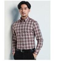 Deepocean casual shirt men fashion shirt men shirt cotton fabric slim fit business long sleeve plaid shirt men clothingDDX86511L