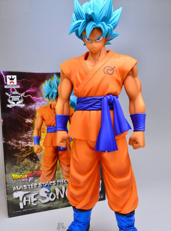 Dragon Ball Z Son Goku Figure Super Saiyan God Blue Hair Goku 25CM Dragon Ball Collectible Model Toy Doll Figuras anime dragon ball z son goku action figure super saiyan god blue hair goku 25cm dragonball collectible model toy doll figuras