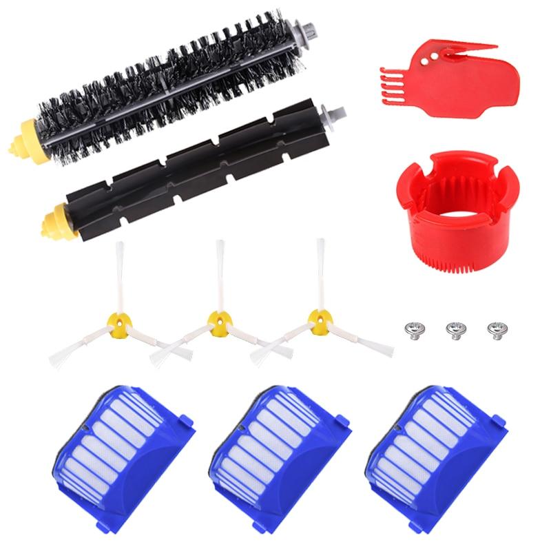 AeroVac Filter Side Brush Bristle Beater Brush For IRobot Roomba 600 610 625 630 650 660 Robot Vacuum Cleaner Parts Accessories