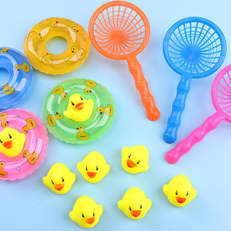 Mini Play Water Yellow Duck Summer Bath Toys Baby Play Duck Ducklings Children's Educational Toys