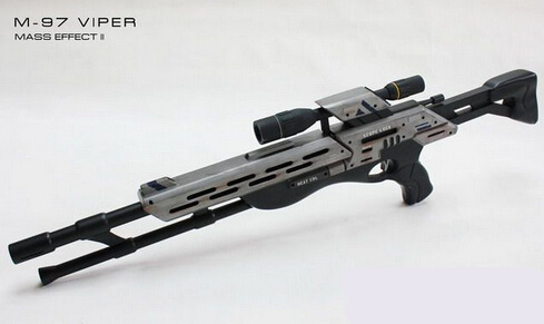 Mass Effect 2 M 97 Viper Sniper Rifle1 1 Scale 3D Paper Model Handmade DIY Children