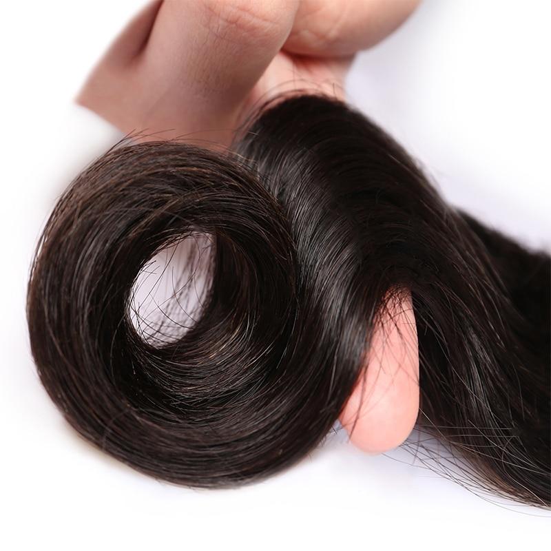 Перуанські Діви Волосся Ткать Пучки - Людське волосся (чорне) - фото 6