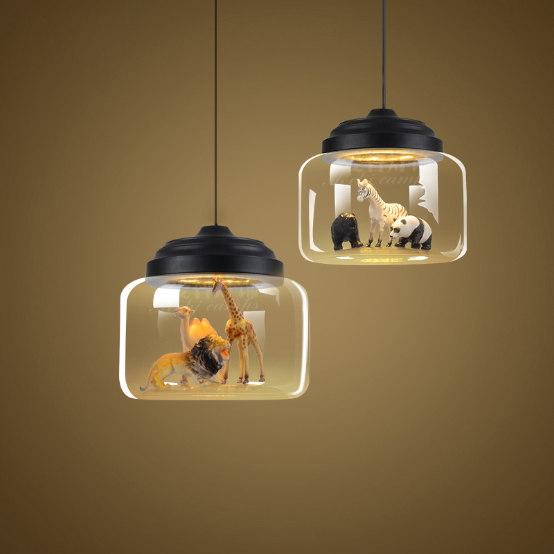 Super Minimalistische glazen lampenkap hanglamp nordic moderne wit zwart ON-09