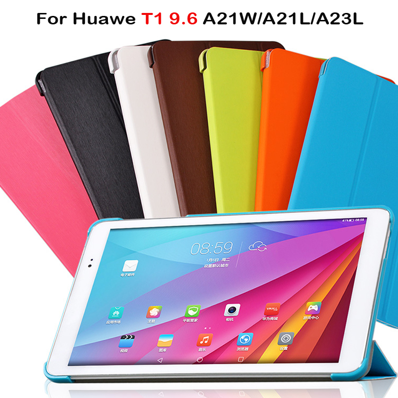 Flip Cover For Huawei Mediapad T1 10 Huawei T1-A21W 9.6 Inch Tablet PC Case Protective Shell Case For Huawei T1 9.6