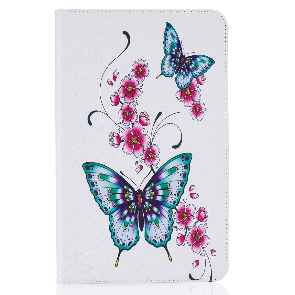 Fashion painting Book Case Cover For Samsung Galaxy Tab A A6 10.1 2016 T585 T580 T580N skin Smart Tablet Case+ Stylus Pen