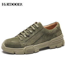 Suede Leather Men Casual Shoes Rubber Sole Male Martin Fashion Footwear For Moccasins