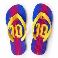 Seyahat meslek yüzme çevirme Barcelona Messi suarez iniesta herhangi adı futbol Terlik spor futbol hayranları gif Plaj ayakkabı