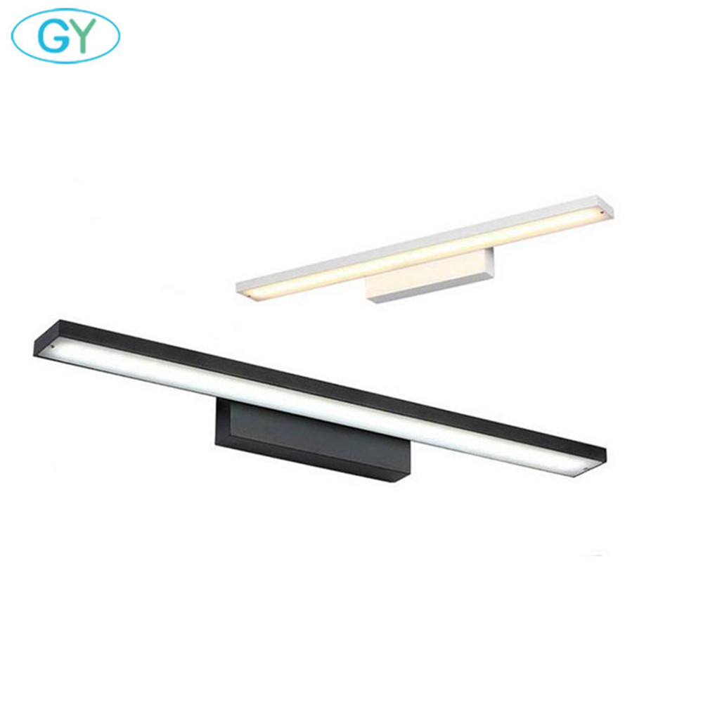 L40/60/80/100cm vanity lighting Black or White Housing LED front mirror light bathroom cabinet dressing table kitchen lamps luzL40/60/80/100cm vanity lighting Black or White Housing LED front mirror light bathroom cabinet dressing table kitchen lamps luz