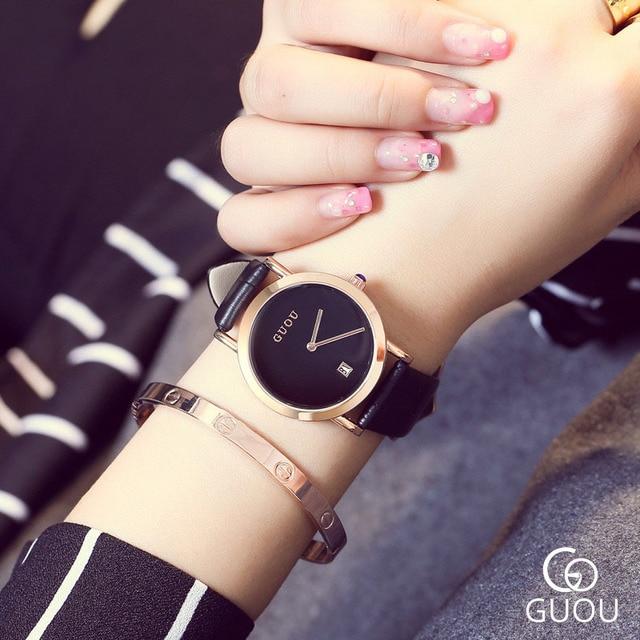 Fashion Simple Style Trendy Top Brand Quartz Wristwatch Watch Clock Elegant Leisure Watch For Women Laidies Student Girls OP001