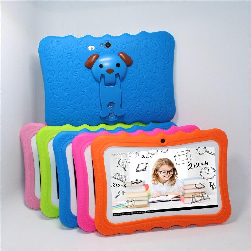"""Планшеты ПК для детей 7 """"4 ядра дети Планшеты Android 4.4 Allwinner A33 4 ГБ/8gbgb Wi-Fi 1024*600 5 видов цветов подарок кремния bracketcase"""