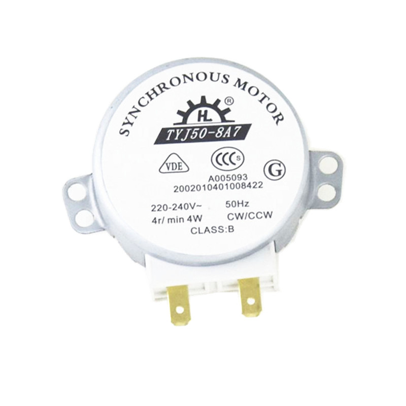 TYJ50-8A7 Microwave Turntable Turn Table Motor Synchronous Motor TYJ508A7 approx 11mm Spindle tall type 55tyb recorder calorimeter motor 375 motor turn