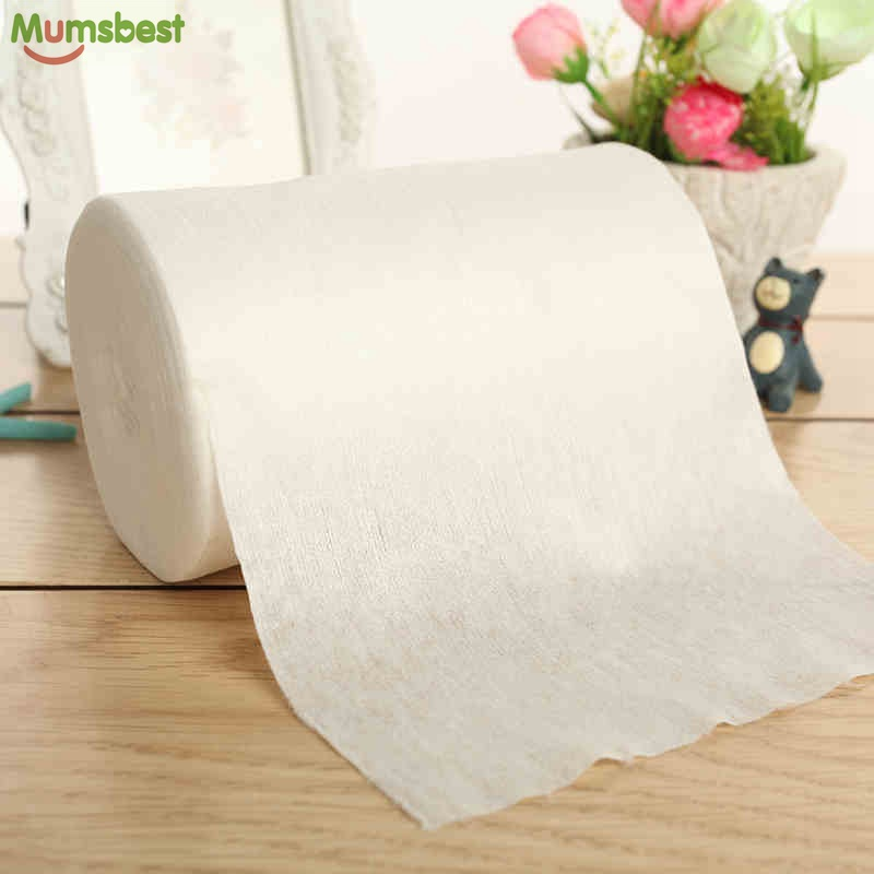 [Mumsbest] Baby Disposable Bleer Bionedbrydelig & Flushable Nappy Liners Tøjblødere 100% Bamboo 100 Sheets1 Roll