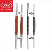 Puxadores naturais modernos da tração do mármore/rosewood do punho da porta da entrada para portas de madeira/metal/vidro PA-204-38 * 610mm