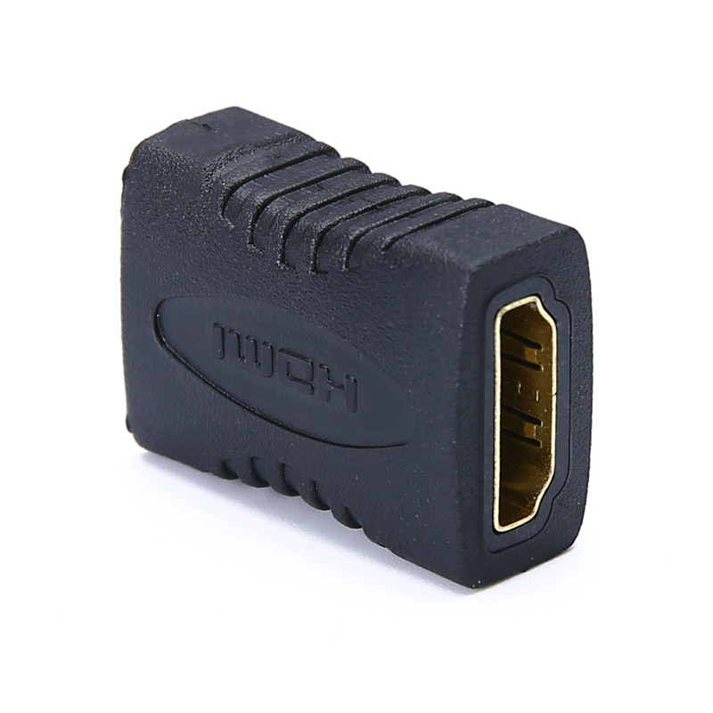High Quality Black HDMI Female to HDMI Female Connector Extender HDMI Cable Cord Extension Adapter Converter High Quality Black HDMI Female to HDMI Female Connector Extender HDMI Cable Cord Extension Adapter Converter 1080P