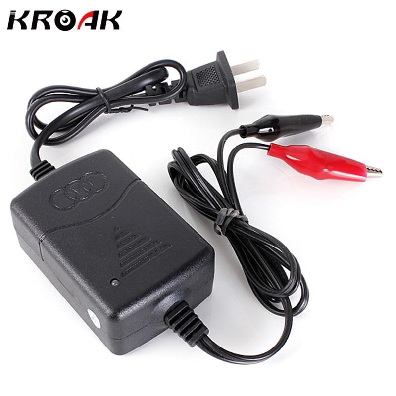 Kroak AC 100/240 V автомобилей Грузовик Мотоцикл ATV 12 В 1.25A компактной Батарея Зарядное устройство тендер сопровождающий