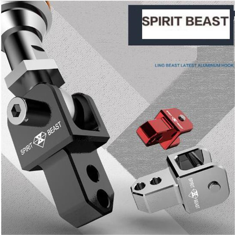 SPIRIT BEAST Motorcycle Modified Accessories Shock Absorber Heightened After Aluminum Alloy CNC Shock Absorber Height forfree shipping motorcycle street bike refires aluminum alloy thickening large shock absorption device beightening 5cm elevator
