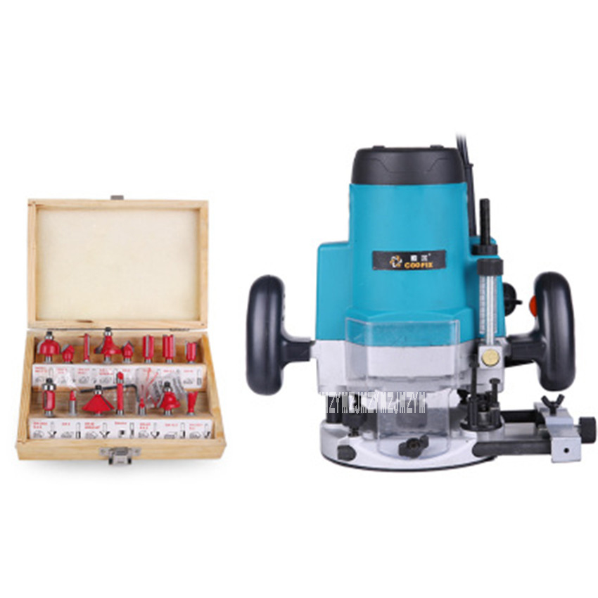 M1P-DS-12 Bakelite Milling Trimmer Woodworking Slotting Machine Multi-function Trimmer Wood Milling Machine 220v 1800W 20000rpm 1 2 5 8 round nose bit for wood slotting milling cutters woodworking router bits
