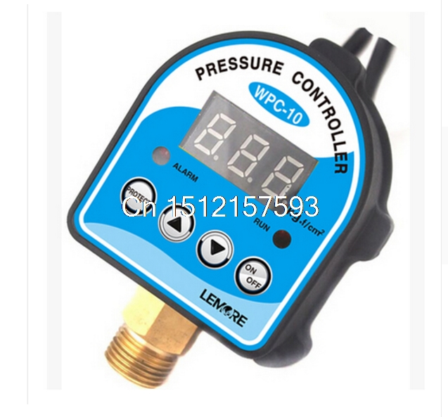 Free Shipping Digital Pressure Control Switch WPC-10 Digital Display Pressure Controller For Water Pump new 1pcs digital pressure control switch wpc 10 digital display eletronic pressure controller for water pump with adapter