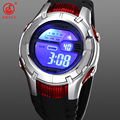 OHSEN Mens Boys Sports Watches Alarm Day Date Chronograph 7 Colors LED Back Light Black Rubber Wristwatch Digital Military Watch