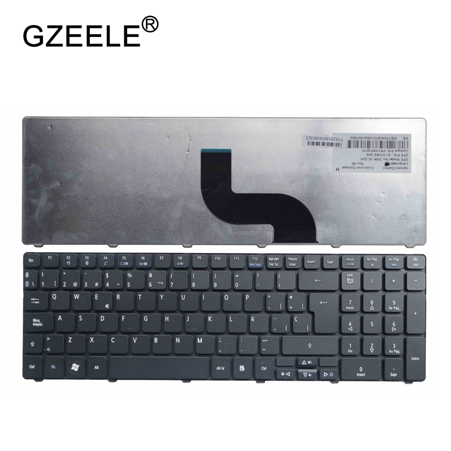 GZEELE Spanish Keyboard For Pk130c94a17 Sg-52500-2Ea Mp-09B26e0-442 Nsk-Ala0s 9J.N1h82.A0s V104730ak1 90.4CH07-S0S PK130C8101 SP