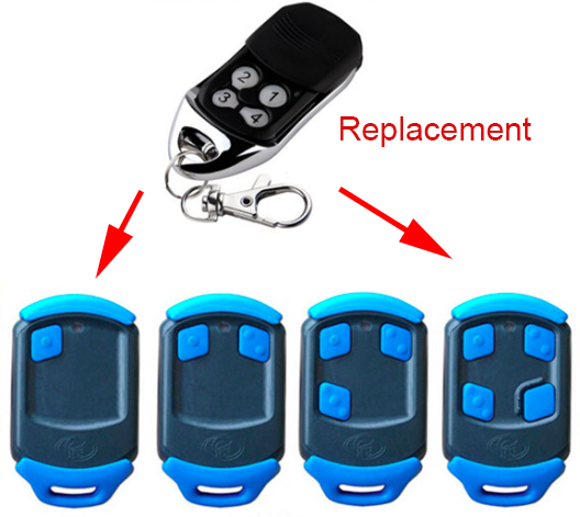 The Remote Replace For Nova Garage Door Remote 43392mhz In Door