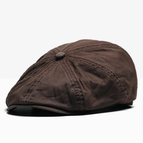 NUZADA British Style Flat Cap Visor Caps Cotton  Women Men Unisex Beret Hats Spring Autumn Retro Solid Color Boina Karachi
