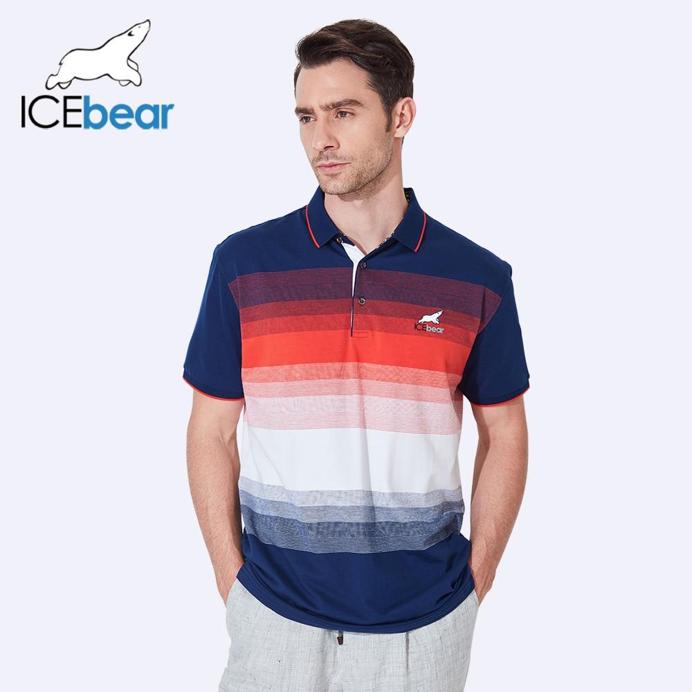 ICEbear 2017 Hot Sale Summer Mens Fashion Casual Polo Cotton Short-Sleeve Slim Polo Shirts Turn-Down Collar For Men 7823D