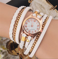 1pcs 9 Colors Original Women Leather Vintage Weave Watch Bracelet Wristwatches 267
