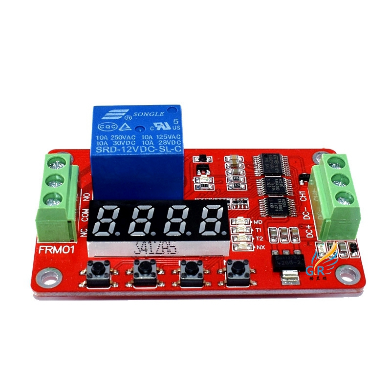 FRM01 Timing / Delay / Cycle / Self-locking / Relay Control Module Module, /18 Kinds of Functions Can Be Set Up 12v timing delay relay module cycle timer digital led dual display 0 999 hours