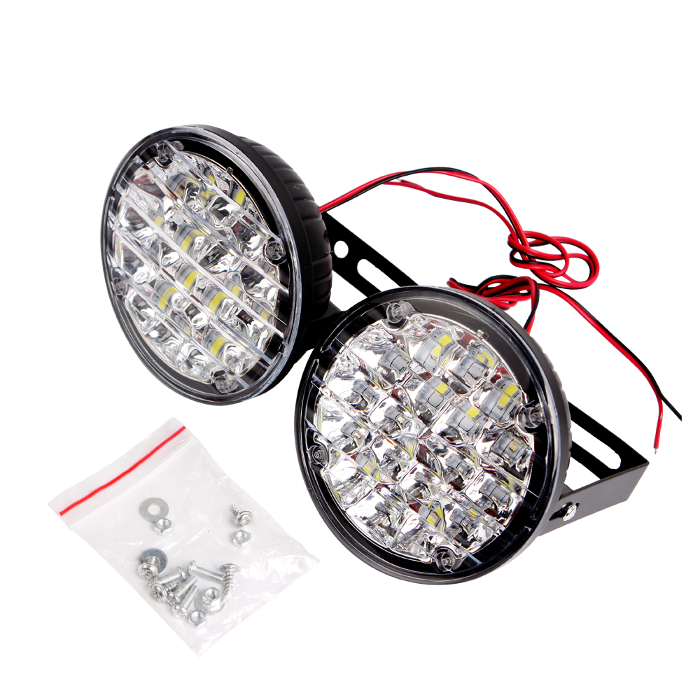 ITimo 1 Pair Car Lights DRL 18 LEDs Car Fog Lamp LED Car Daytime Running Light 18w Car Accessories Super Bright 12v Auto Lamps 1 pair super bright 18w eagle eye hawkeye cob led car headlight drl daytime running light driving fog daylight safety head lamp