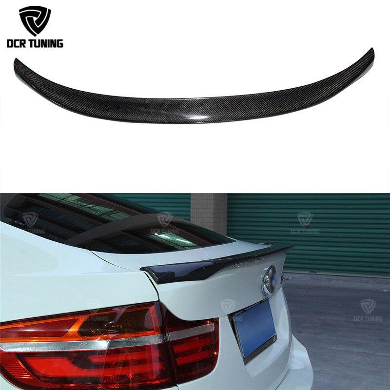 MP Style For BMW X6 E71 Spoiler Carbon Fiber Spoiler For X6 2008 2009 2010 2011 2012 2013 Rear Trunk Wings M Performance Spoiler