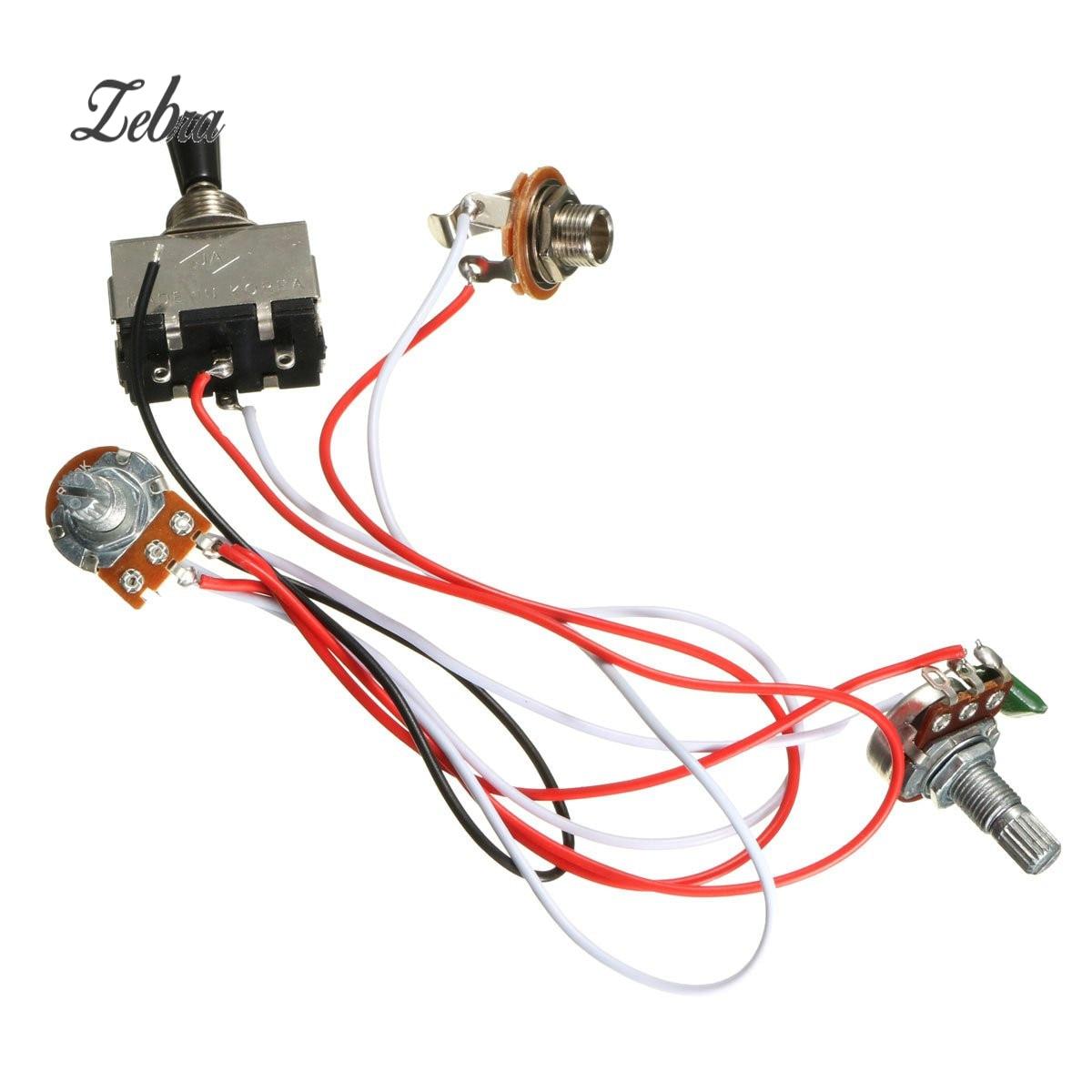 3 pcs set metal plastic electric guitar sound switch guitar volume tone control shift wiring harness [ 1200 x 1200 Pixel ]