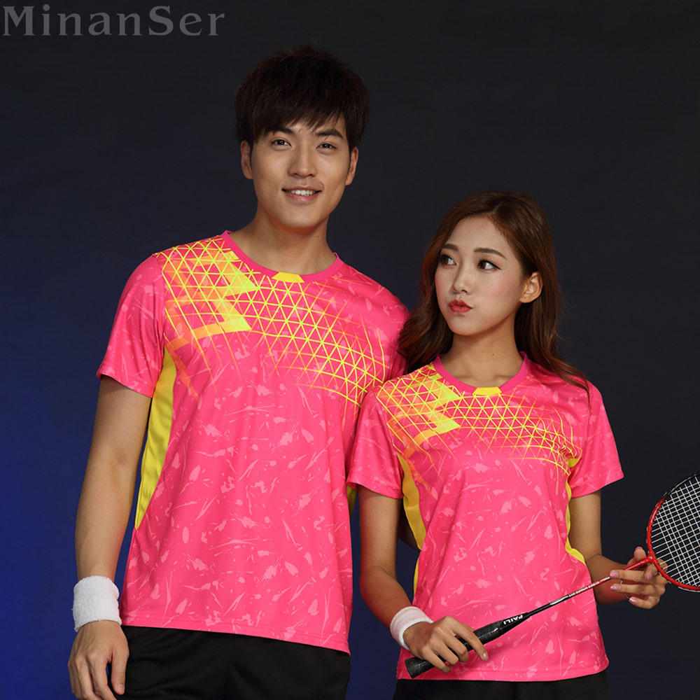 Free Printing Name Tennis wear shirt Women/Men's , sports Badminton shirts , Table Tennis tshirts, Quick dry sportswear 1835