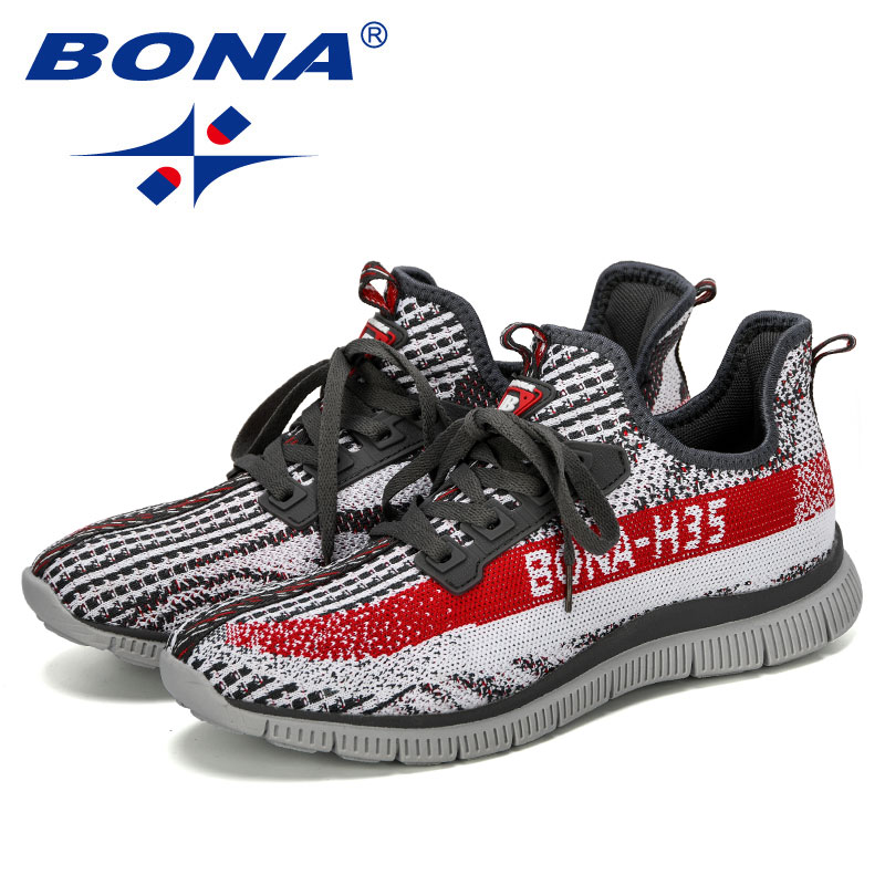 Image 5 - BONA 2019 New Designer Sneakers Breathable Casual No Slip Men Vulcanize Shoes Male Air Mesh Wear Resistant Shoes Tenis MasculinoMens Casual Shoes   -